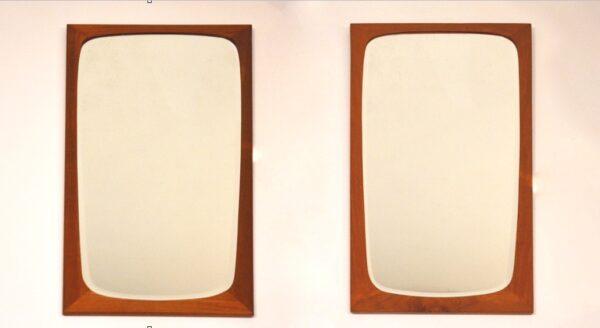 Paire de miroirs danois biseautés