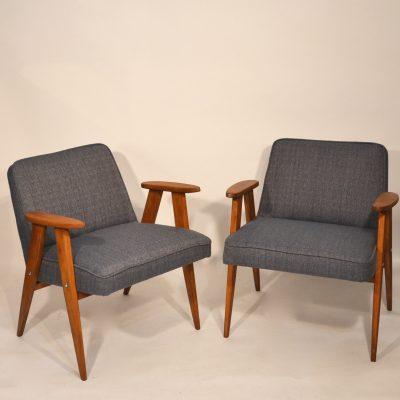Paire de fauteuils Chierowski