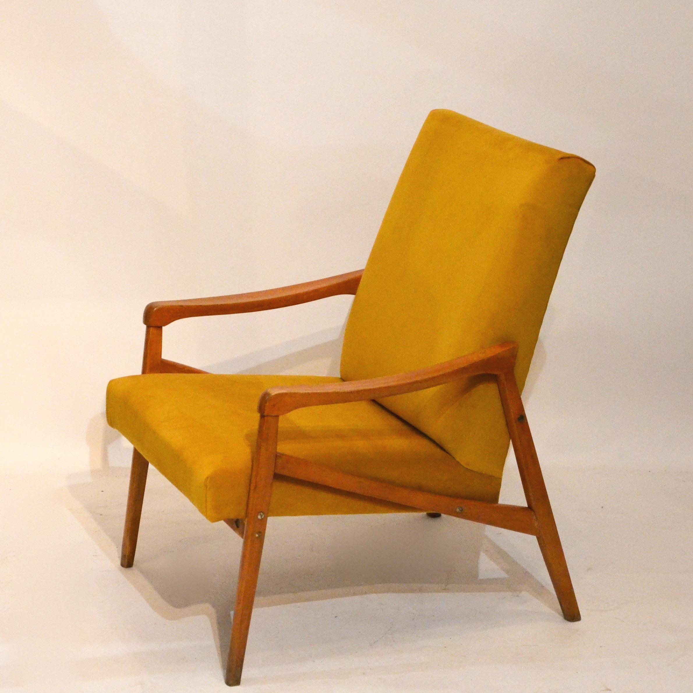 fauteuil ann es 60 moutarde 2 bindiesbindies. Black Bedroom Furniture Sets. Home Design Ideas