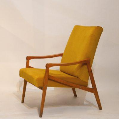 Fauteuil années 60 moutarde 2