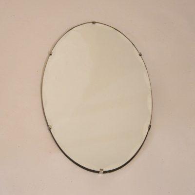 Petit miroir ovale biseauté