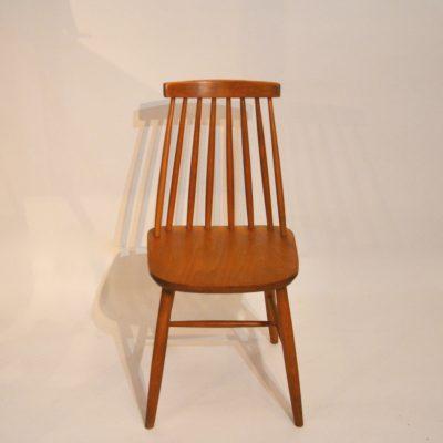 Paire de chaises scandinaves rousses
