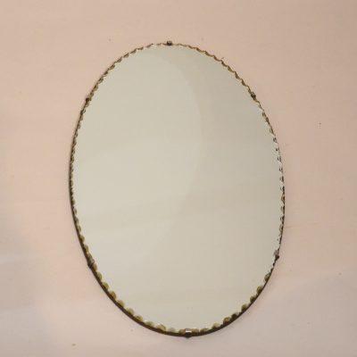 Miroir ciselé ovale