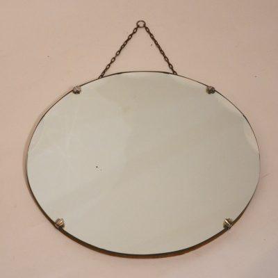 Petit miroir biseauté rond