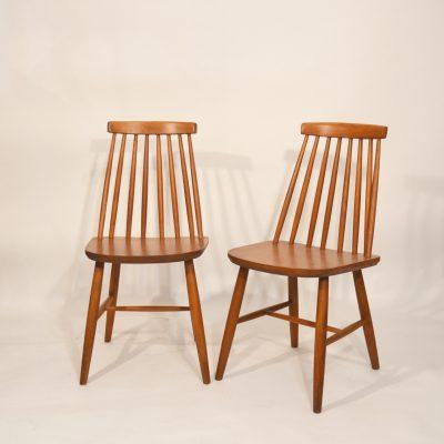 Série de 10 chaises scandinaves terracotta
