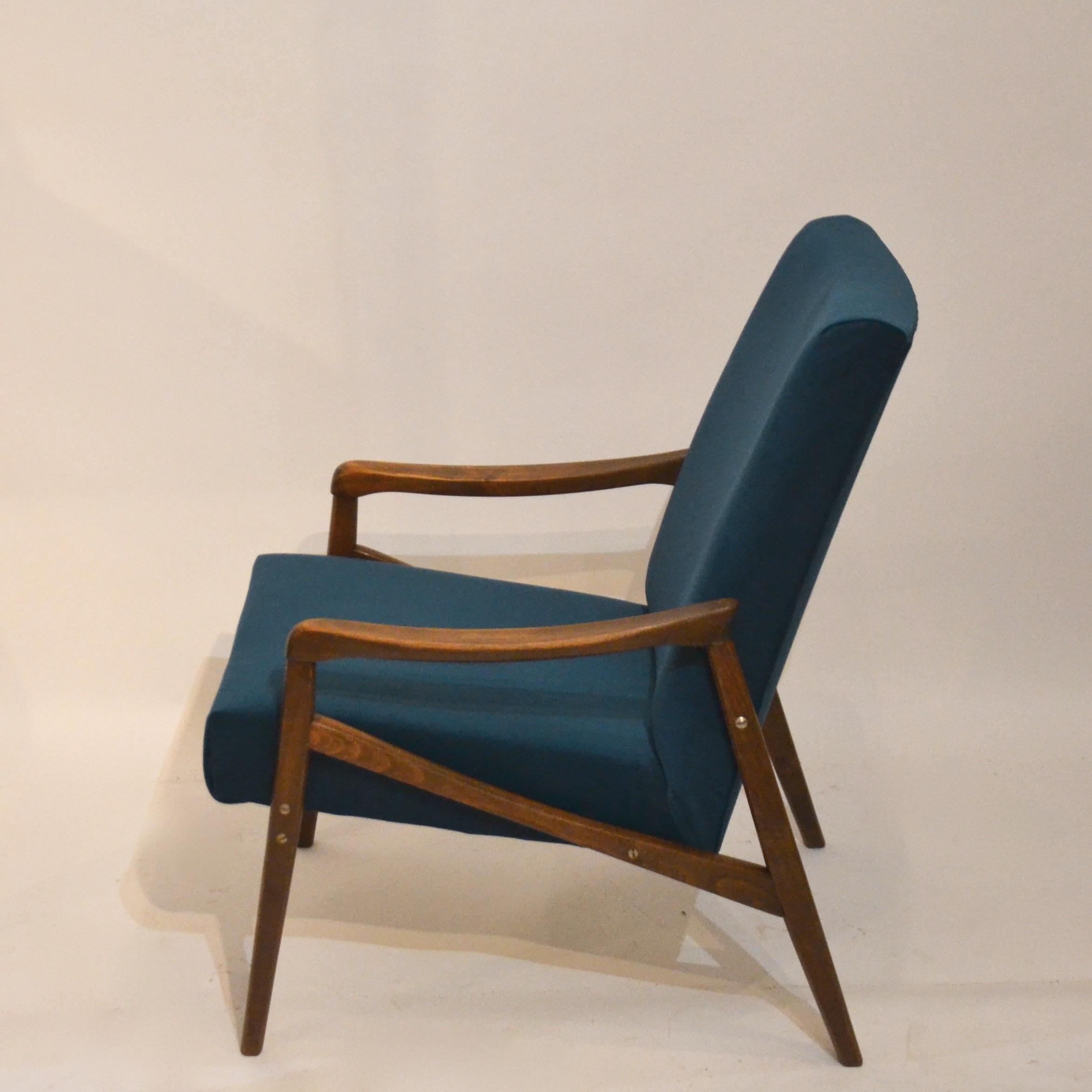fauteuil retapiss velours bleu canard bindiesbindies. Black Bedroom Furniture Sets. Home Design Ideas