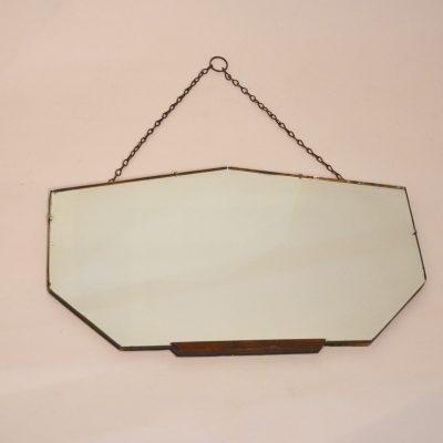Miroir biseauté ancien avec sa chaînette
