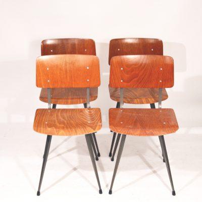 Série de 4 chaises Hollandaises