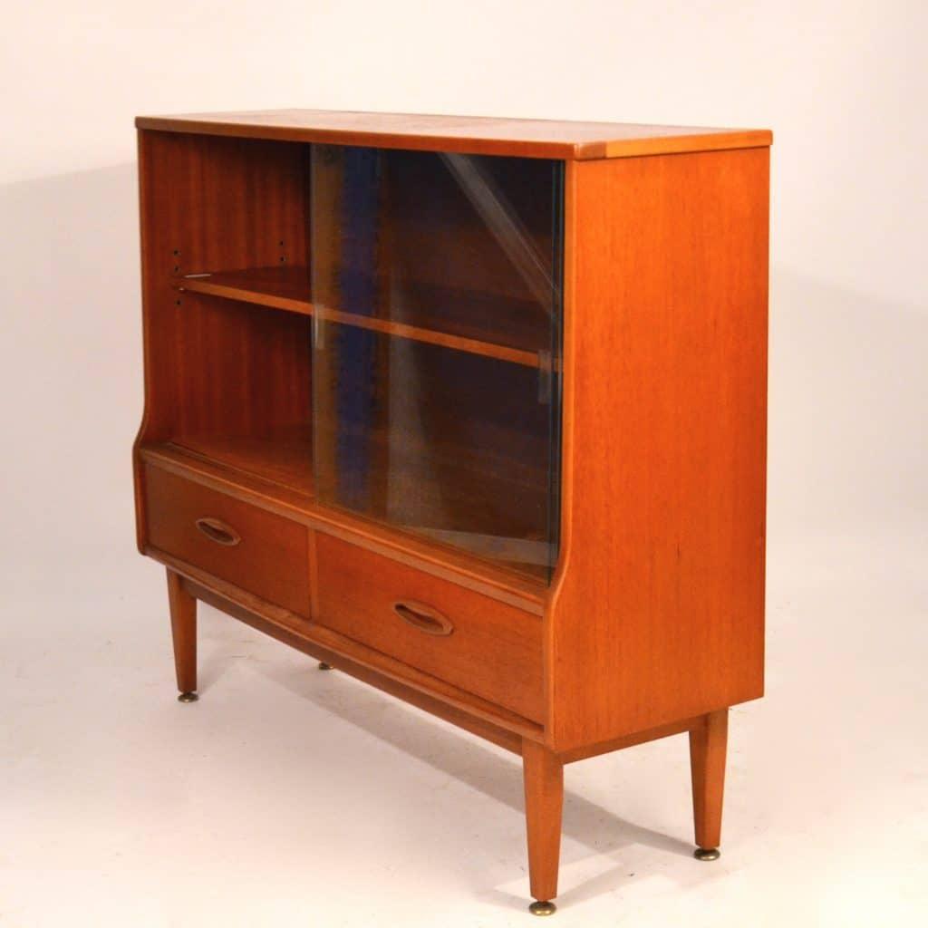 biblioth que vitrine en teck jentique bindiesbindies. Black Bedroom Furniture Sets. Home Design Ideas