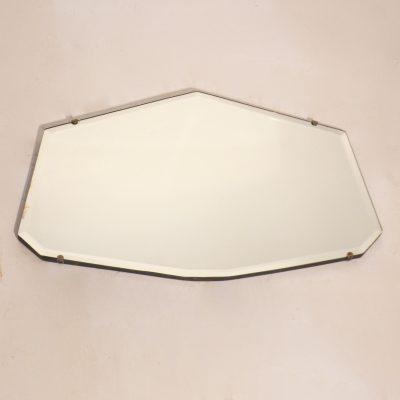 Petit miroir biseauté années 50