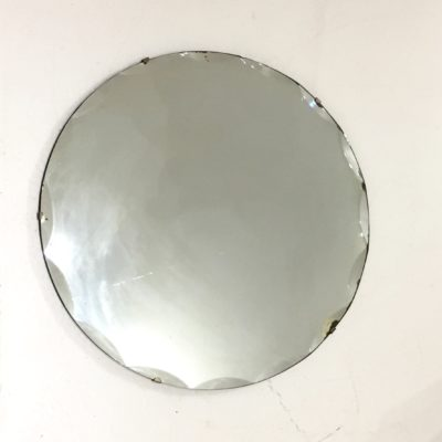 Miroir biseauté rond