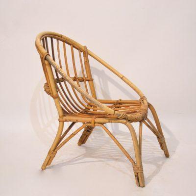 Mini fauteuil rotin pour enfant