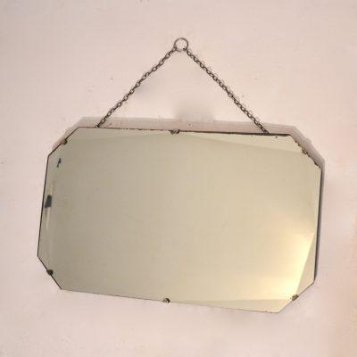 Miroir biseauté années 50 format rectangle