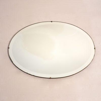 Miroir biseauté ovale