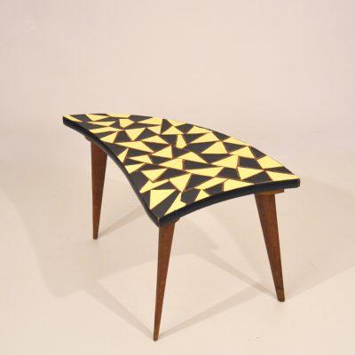Petite table tripode arlequin