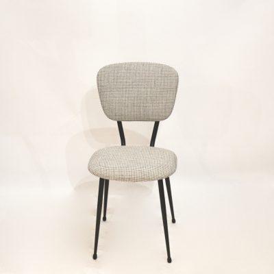 Paire de chaises années 60 pied de poule