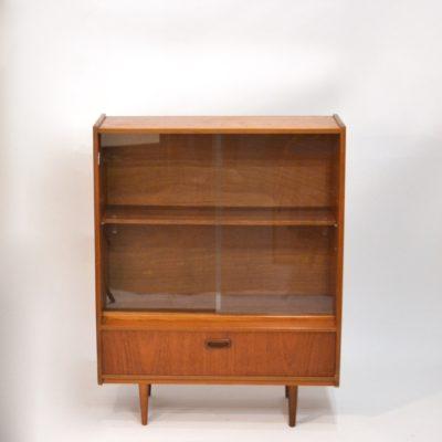 Petite bibliothèque vitrine années 60