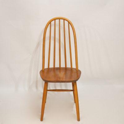 Série de 4 chaises à grand dossier
