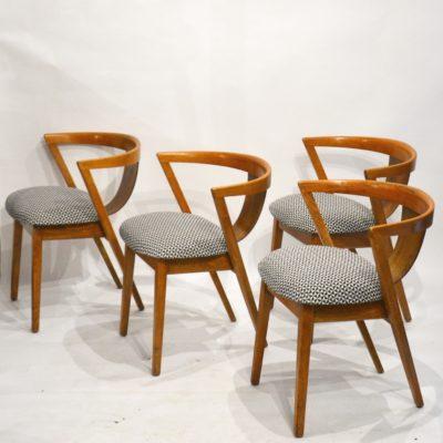 Série de 4 chaises Art déco