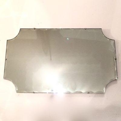 Grand miroir biseauté années 50