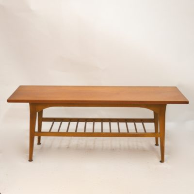 Table basse scandinave miel