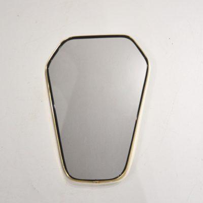 Miroir hexagonal noir et doré
