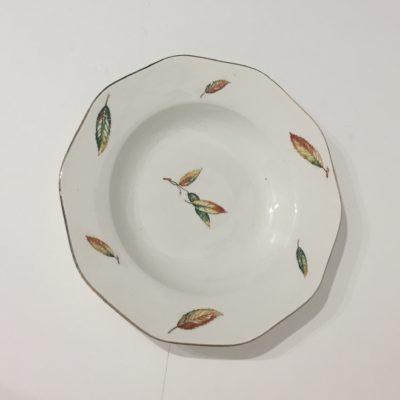 Assiettes anciennes en porcelaine