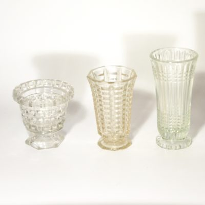 Petits vases en verre années 60