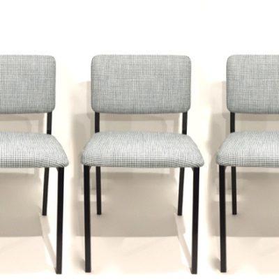Paires de chaises pied de poule