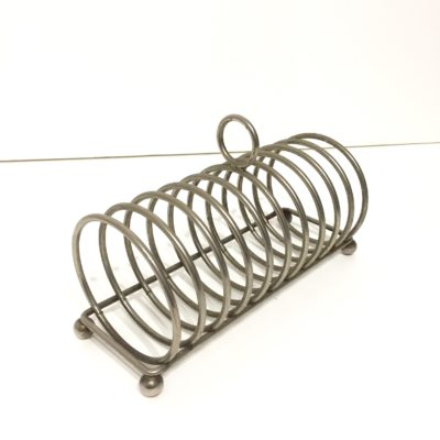 Porte toast en métal argenté