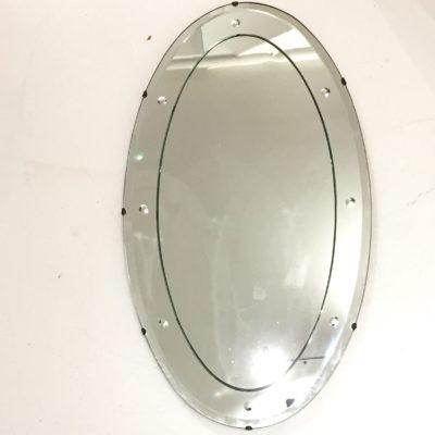 Miroir ovale décoré