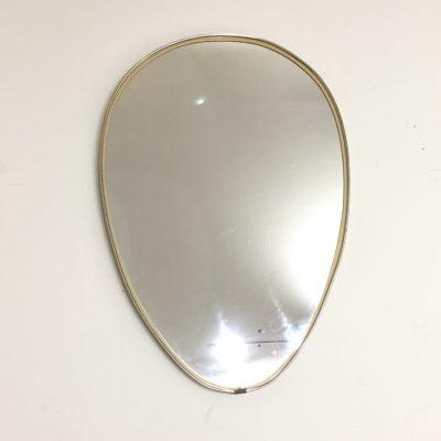 Miroir doré forme libre