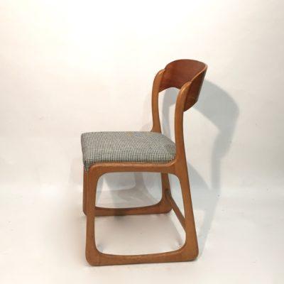 Paire chaises traineau Baumann