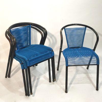 Série de 4 chaises d'extérieur