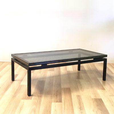 Table basse Pierre Vandel motif cannage