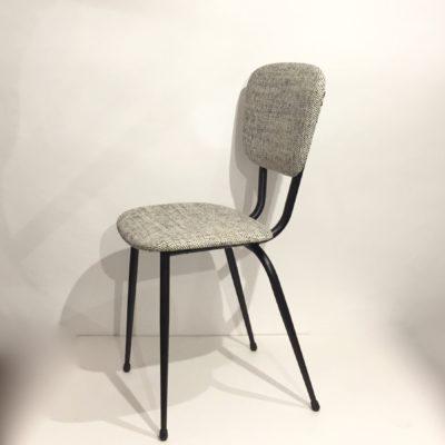 Série de 6 chaises années 60 retapissées