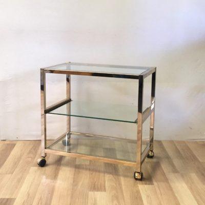 Etagère ou meuble TV en verre années 70