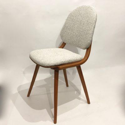 Série de 6 chaises gris chiné