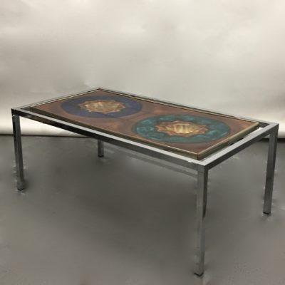 Table basse céramique années 60