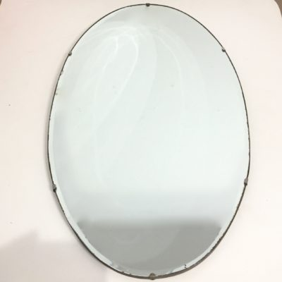 Miroir ovale biseauté