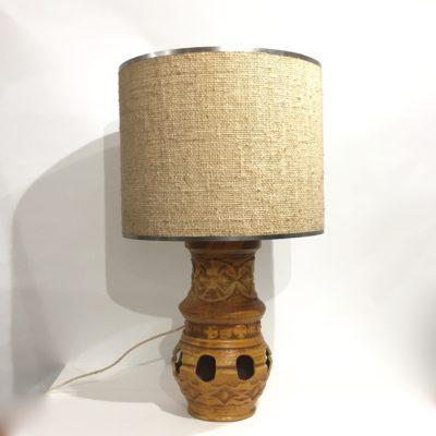 Lampe à poser en céramique jaune